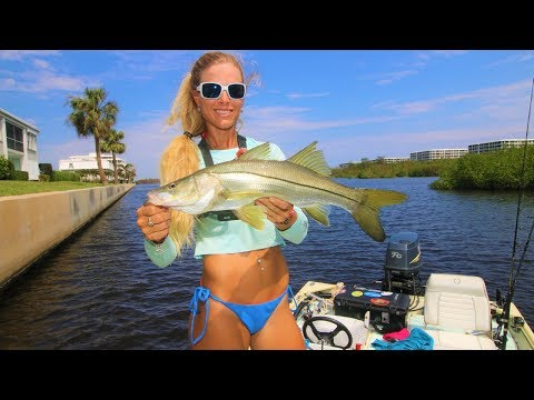 Florida Inshore Fishing for Snook & Jacks GoPro Video ft. My BEST TIPS!