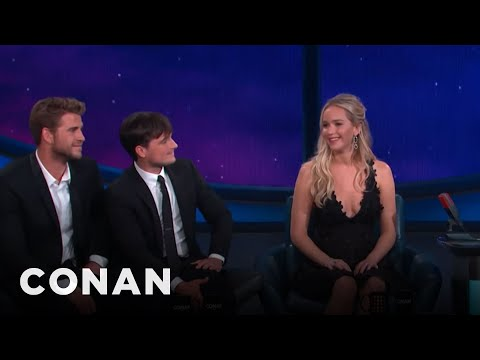 "Jennifer Lawrence Is Ready For A ""Hunger Games"" Threesome  - CONAN on TBS"