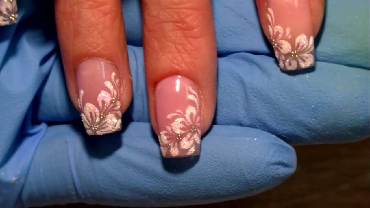 Transparent Flowers New Nail Art 2017 The Best Nail Art Designs