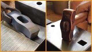 Forging a copper hammer / mallet