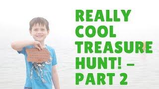We found a hidden treasure map! Cape Cod treasure hunt adventure! - Part 2