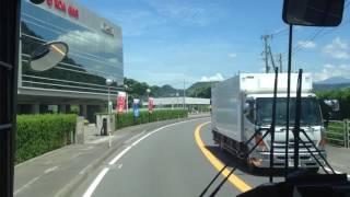 [2015-07]路線バス 前面展望 車窓 国分駅前→志布志/ 三州自動車 鹿児島空港1110発