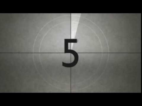 Old Movie Countdown Timer With Sound Effect HD FREE