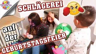 SCHLÄGEREI auf der GEBURTSTAGSFEIER - ANGRIFF auf die MÄDCHEN - Family Fun