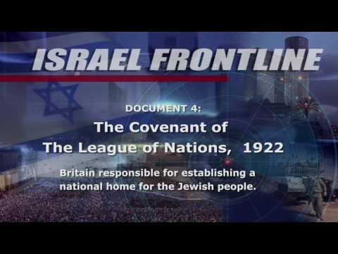 Israel Frontline - Is Israel legal? Part 2: Historical Facts