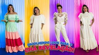 ESCOLHENDO OS LOOKS PARA O CHA REVELAÇÃO!!