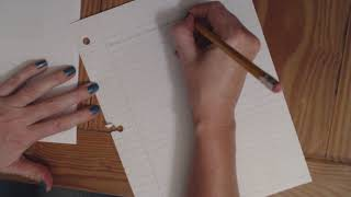 ASMR | Copying Notes/Writing At A Desk | Pencil Sounds (No Talking)