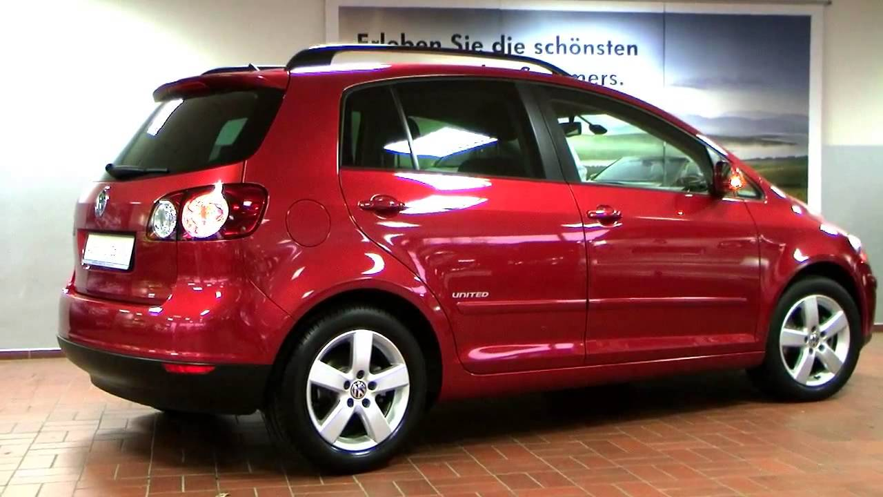 volkswagen golf plus 1 4 tsi dsg united 2008 rot metallic. Black Bedroom Furniture Sets. Home Design Ideas