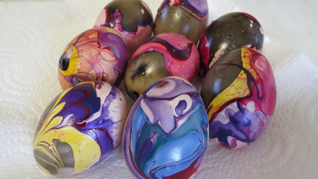 ГАЛАКТИЧЕСКИЕ Яйца на ПАСХУ. Тюнинг Покраска Яиц на Пасху ...