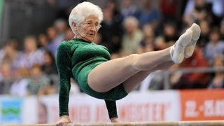 Amazing 91 Years Old Gymnast- Johanna Quaas
