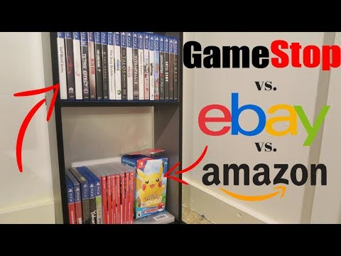 Selling Entire Video Game Collection To GameStop Vs. Ebay And Amazon! Where To Make The Most Money