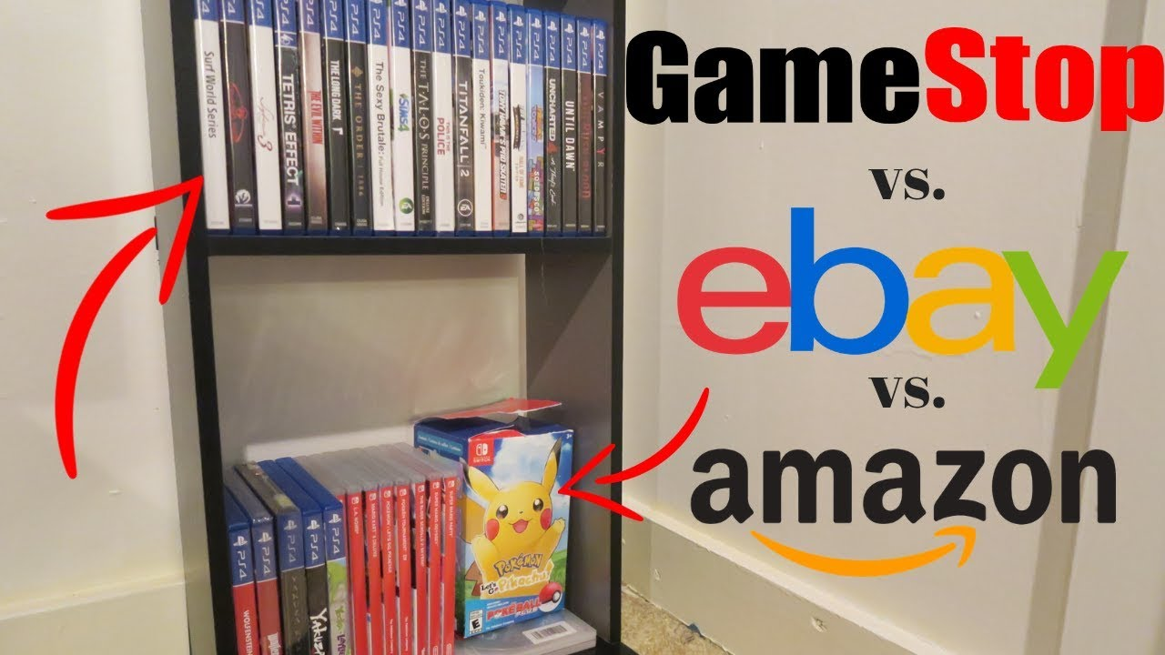 Selling Entire Video Game Collection to GameStop vs  Ebay and Amazon! Where  to Make the Most Money