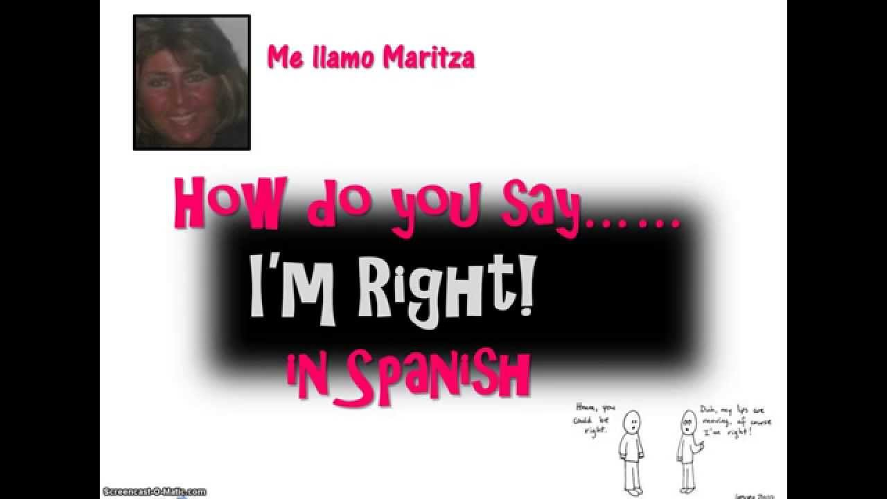 How Do You Say What Do You Mean Spanish