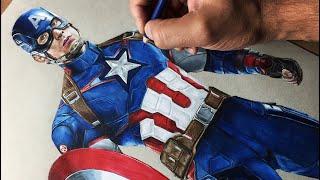 Drawing Captain America - Avengers Timelapse | Artology