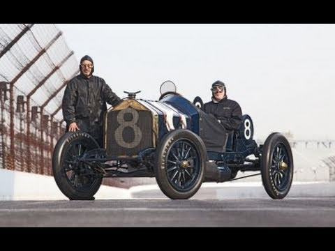 Bobby Rahal & Peter Egan lap Indy in the 1912 National