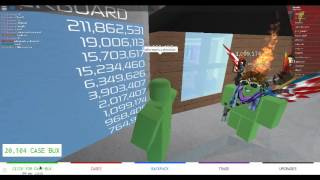PLaying case clicker on roblox!!