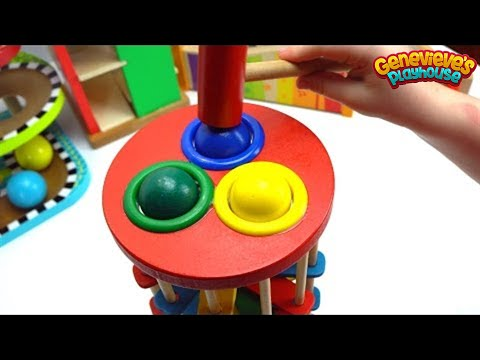 Thumbnail: Learn Colors Best Learning Videos for Kids: Cute Kid Genevieve Plays Ball Pounding! Colorful Fun!