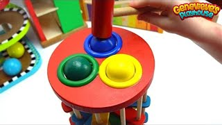 Genevieve Plays with Fun Ball Pounding Toys for Toddlers!