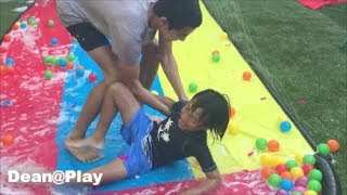 WATER BALLOON FIGHT / SURPRISE EGGS / Outdoor Activities for Kids / Unboxing Toys