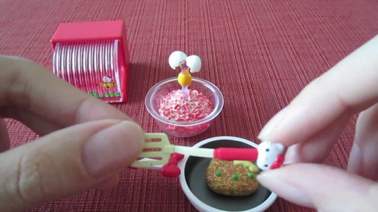 """sanrio x re-ment hello kitty """"i love cooking"""" set - youtube"""
