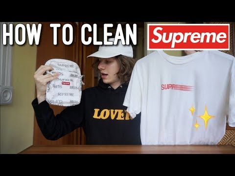 How to Clean White Supreme/Streetwear Clothing! (Cheap & Easy)