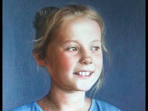 1 of 4, Portrait painting demo, glazing grisaille, 1st glaze - with voiceover - 1 of 4
