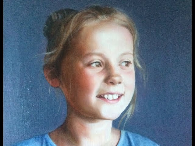 1 of 4, Portrait painting tutorial, glazing grisaille, 1st glaze VOICEOVER