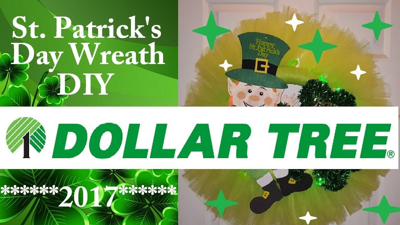 dollar tree st s day wreath diy 2017