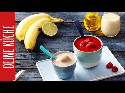 Veganes Bananeneis Und Himbeersorbet Selber Machen Rewe Deine