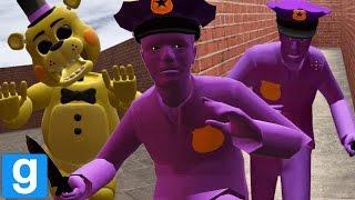 HUNTED BY THE TERRIFYING PURPLE GUY! || GMOD FNAF (Five Nights at Freddys Garrys Mod)