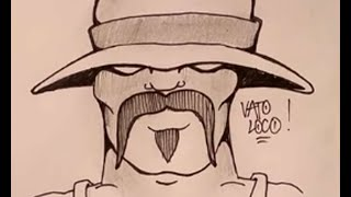 How to draw a Graffiti Cholo Gangster face - zeichnen - part1