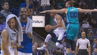 Stephen Curry Crazy Layups! Kevin Durant Dominates 4th Quarter Warriors vs Hornets