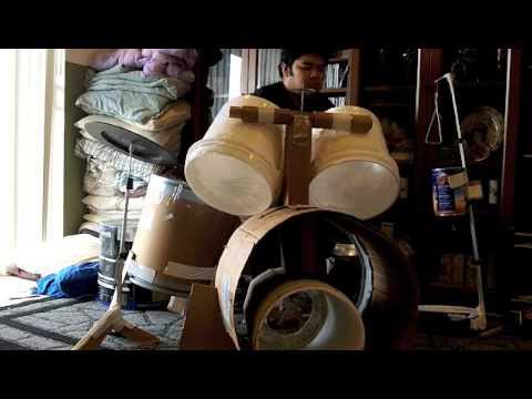 HappyHour's Homemade poor man drum set