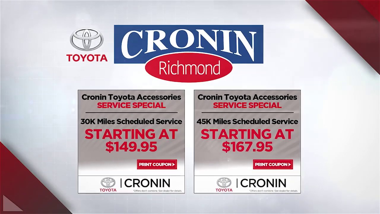 Toyota Richmond Indiana >> Service Special Coupons Cronin Toyota Richmond Indiana Youtube