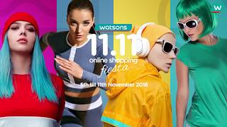Watsons 11.11 Online Shopping Fiesta