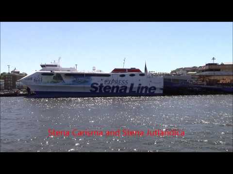 Ships in Götebrog seen from Stena Jutlandica,Älvsnabben5 and Stena Danica 15/5/2015