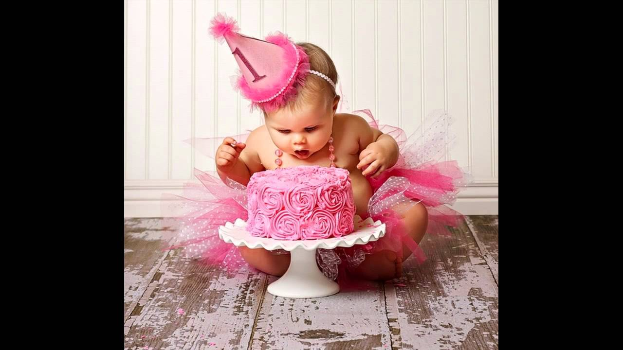Girl 1st birthday party themes decorations at home youtube for Baby girl birthday decoration pictures