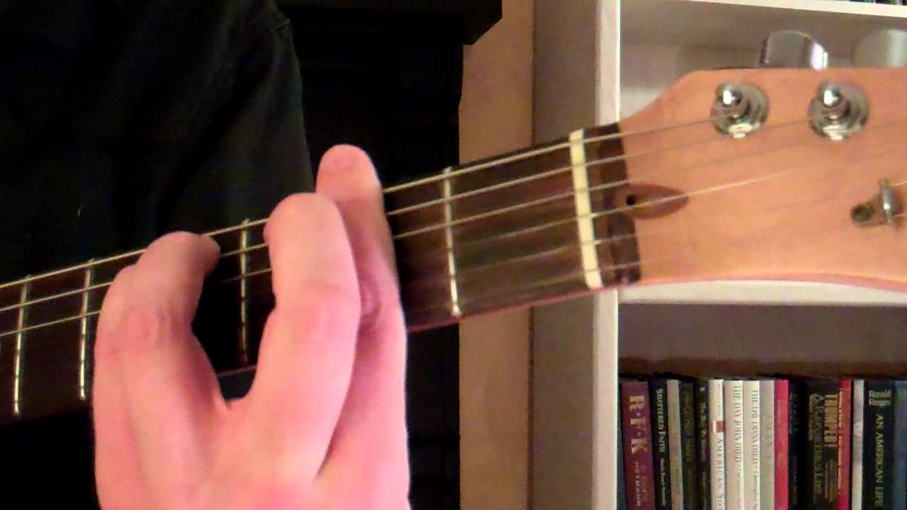 How To Play The F Minor Chord On Guitar F Sharp Youtube
