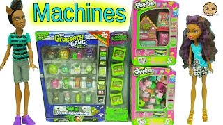 Shopkins Surprise Blind Bags + Grossery Gang Vile Vending Machine with Exclusives