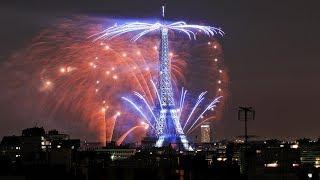 Fireworks over Paris to celebrate Bastille Day