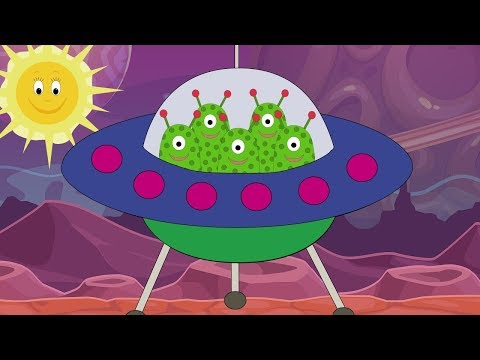 5 Little Men in a Flying Saucer, Nursery rhyme for babies and toddlers