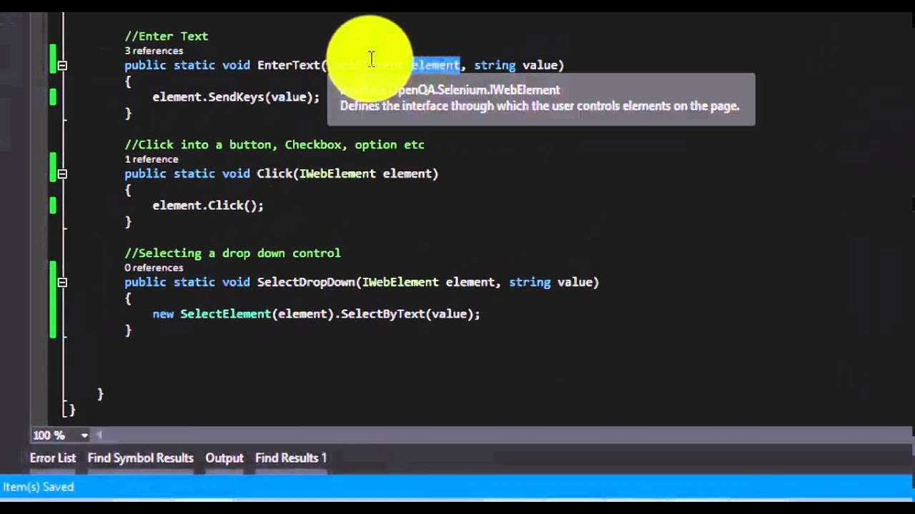 Using C# Extension methods for Selenium – ExecuteAutomation