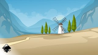 How to draw a mountain landscape with a mill in Inkscape