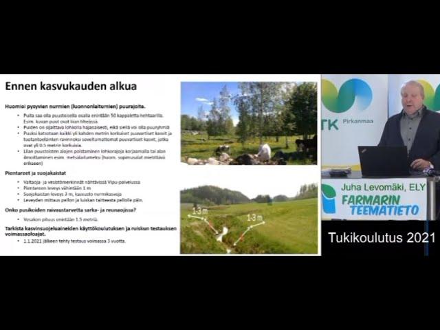 Farmarin Teematiedon tukikoulutus 2021 Valvonnan vuosikierto