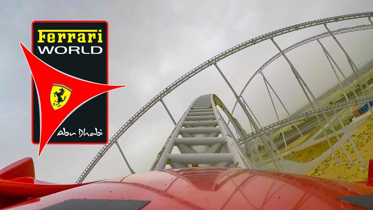 Ferrari World Roller Coasters Front Seat Pov Abu Dhabi Uae Youtube