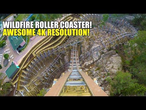 Wildfire 4K Wooden Roller Coaster POV AWESOME Ultra HD Kolmarden Sweden