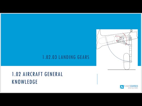 1.02 Aircraft general knowledge. Part 03 Undercarriage