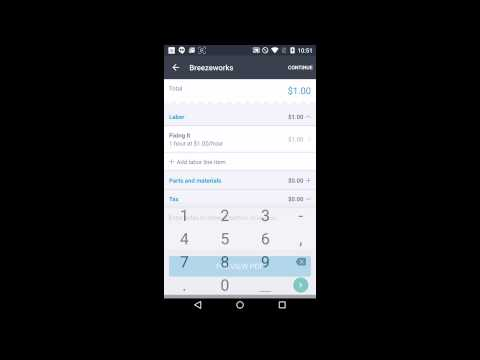 [Android] Take a credit card payment using Breezeworks