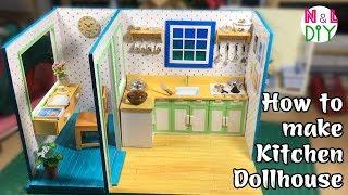 DIY Miniature Dollhouse: Kitchen | How to make Miniature Kitchen for Dollhouse