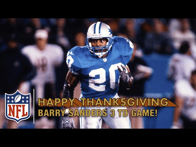 Barry Sanders Talks Thanksgiving Football and Eight-Legged Turkeys d0d782859